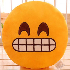 Delighted Emoji Pillow