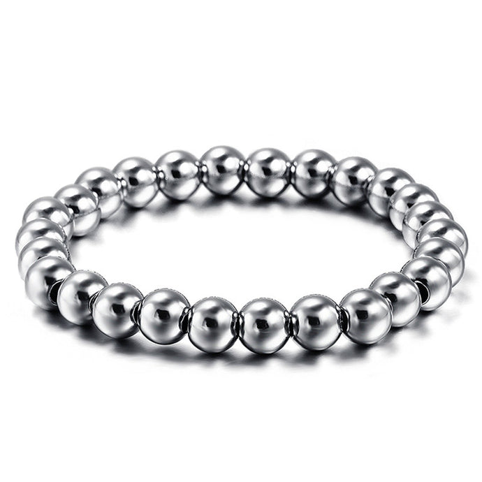 Classical Biker Stainless Steel Men's Bracelet - 8mm
