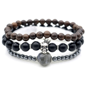 Royal Skull Bracelet Bundle for Men