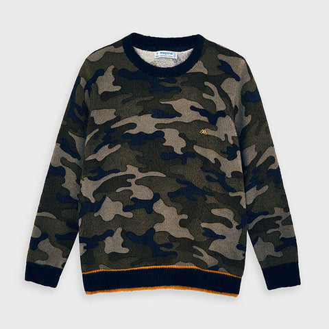 4327 - Boys Camo Sweater