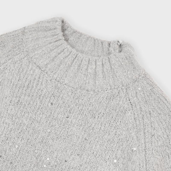 4342 - Girls Cozy Sweater - Steel
