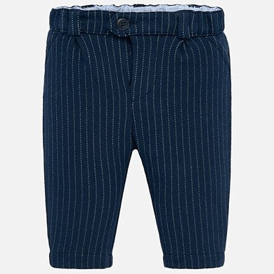 Navy Pinstripe Pants - 2516
