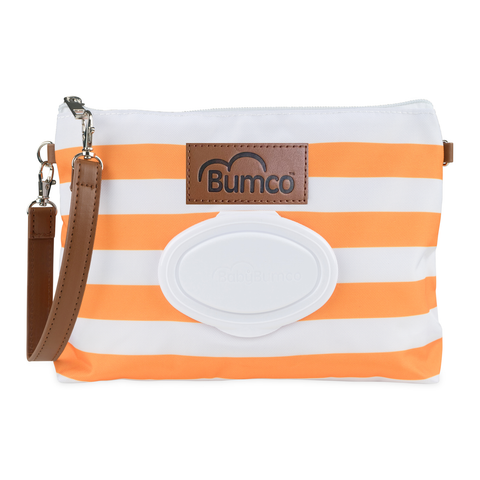 Diaper and Wipe Clutch - Orange
