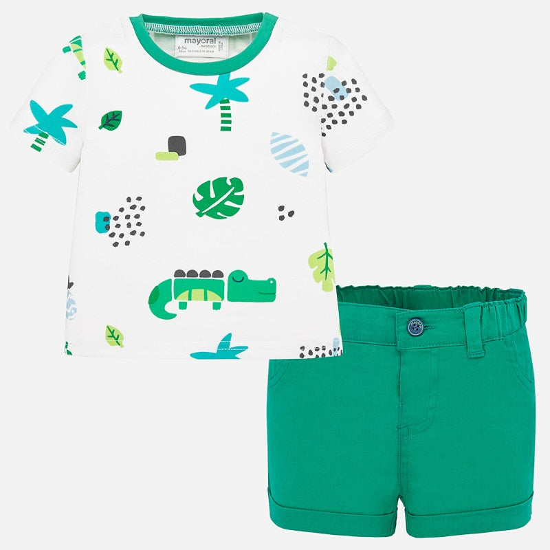 1277 - Infant Leaf 2pc Outfit Set