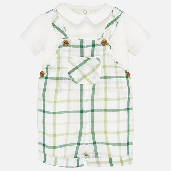 1678 Green Plaid 2pc Jumper