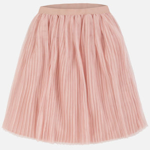 6951 - Tween Tulle Pleated Midi Skirt