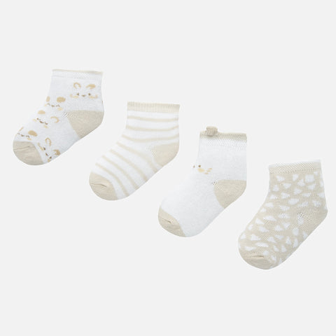 9240 Newborn Sock Set 4pc