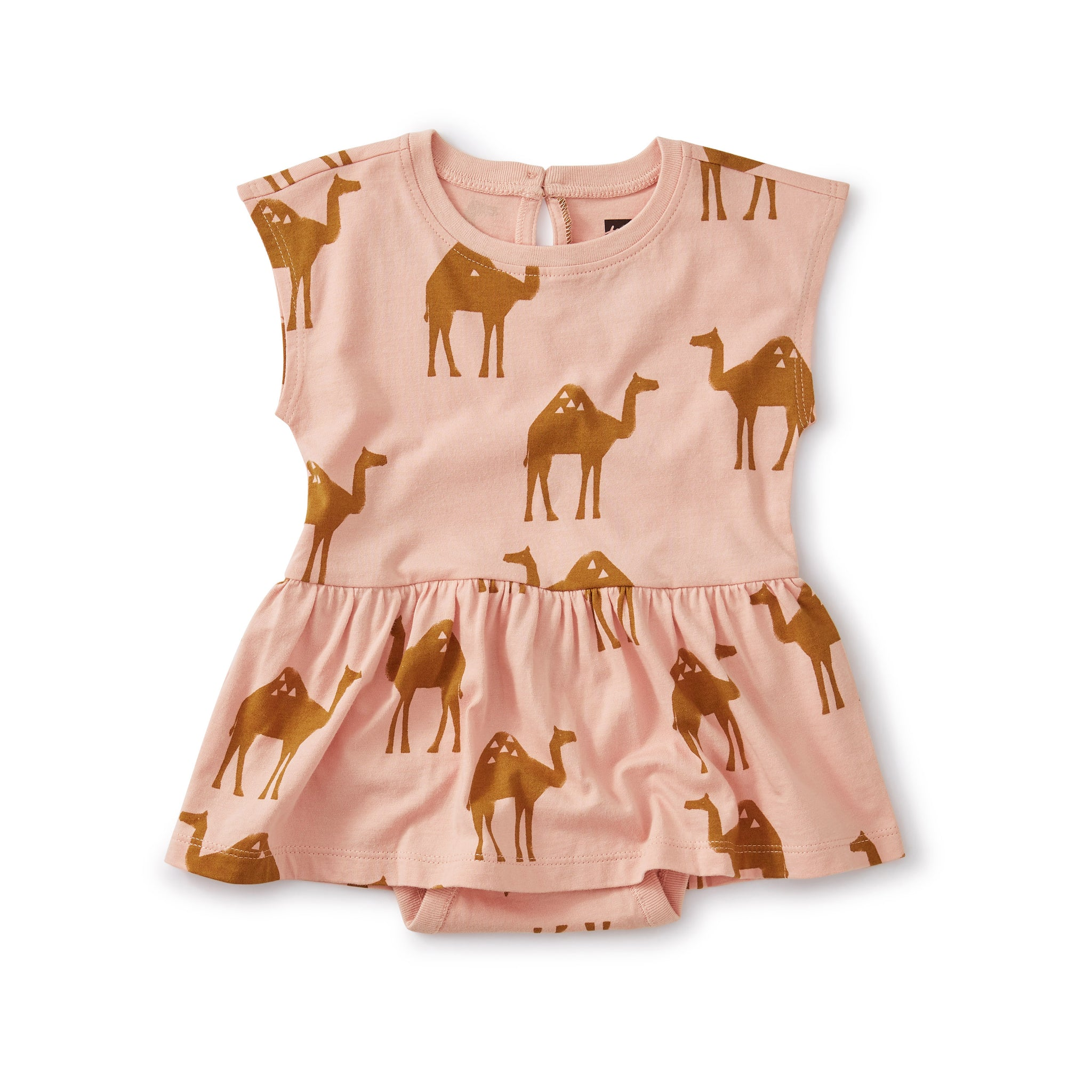 Skirted Romper - Oasis Camel