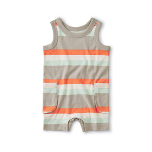 Cargo Pocket Tank Romper - Sunburst
