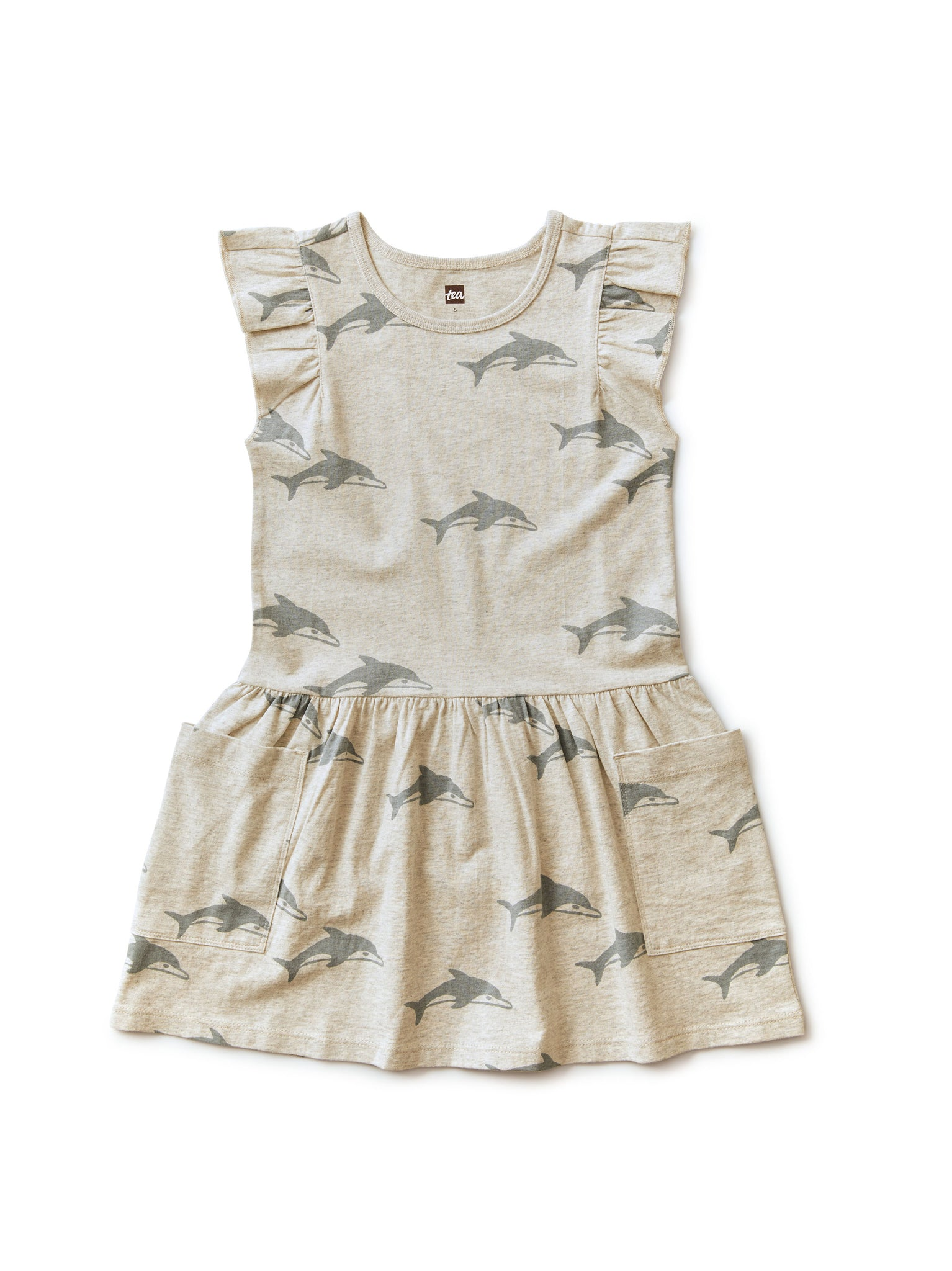 Pocket Dress - Dolphin Heather Gray