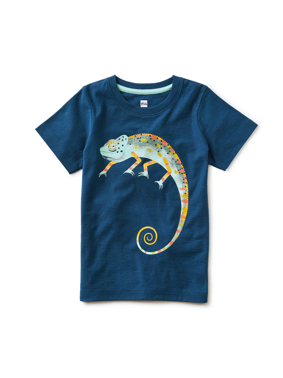 Cool as a Chameleon Graphic Tee - Ascot Blue