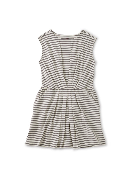 Pleated Dress - Slim Stripe