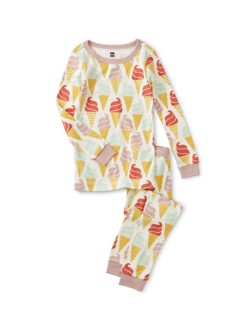 Long Sleeve Pajama - Ice Cream Cones
