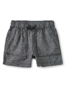 Camp Shorts - Blue Chambray
