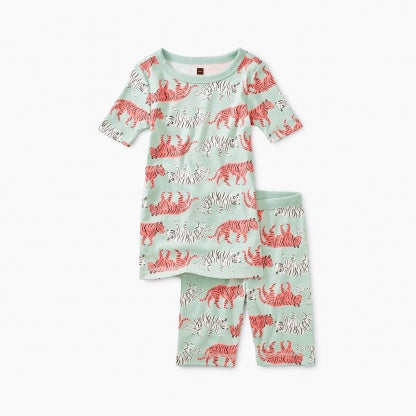 Printed Shortie Pajama - Tiger Trek