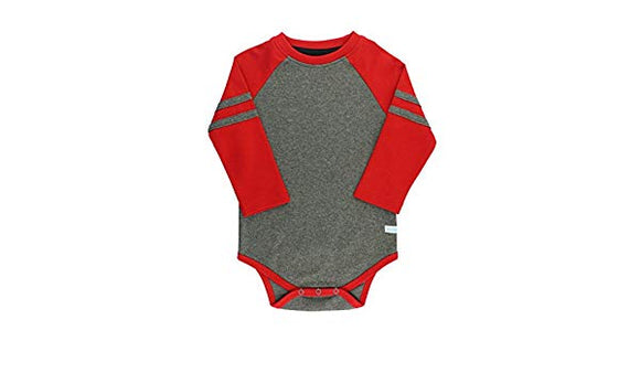 Baby Boy Red Raglan Bodysuit