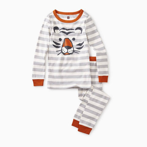 Graphic Long Sleeve Pajama - Tiger Stripe
