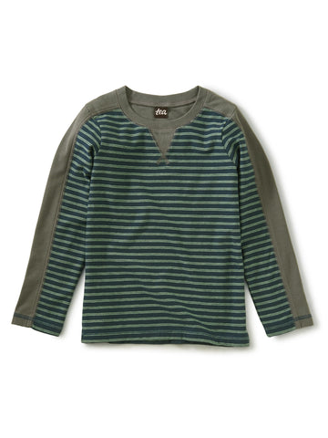 Striped Sporty Top - Bedford Blue