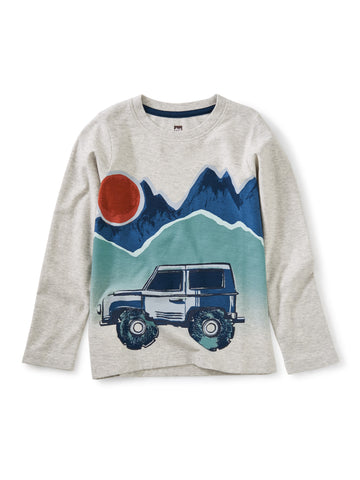 Del Paine Explorer Graphic Tee - Light Gray Heather