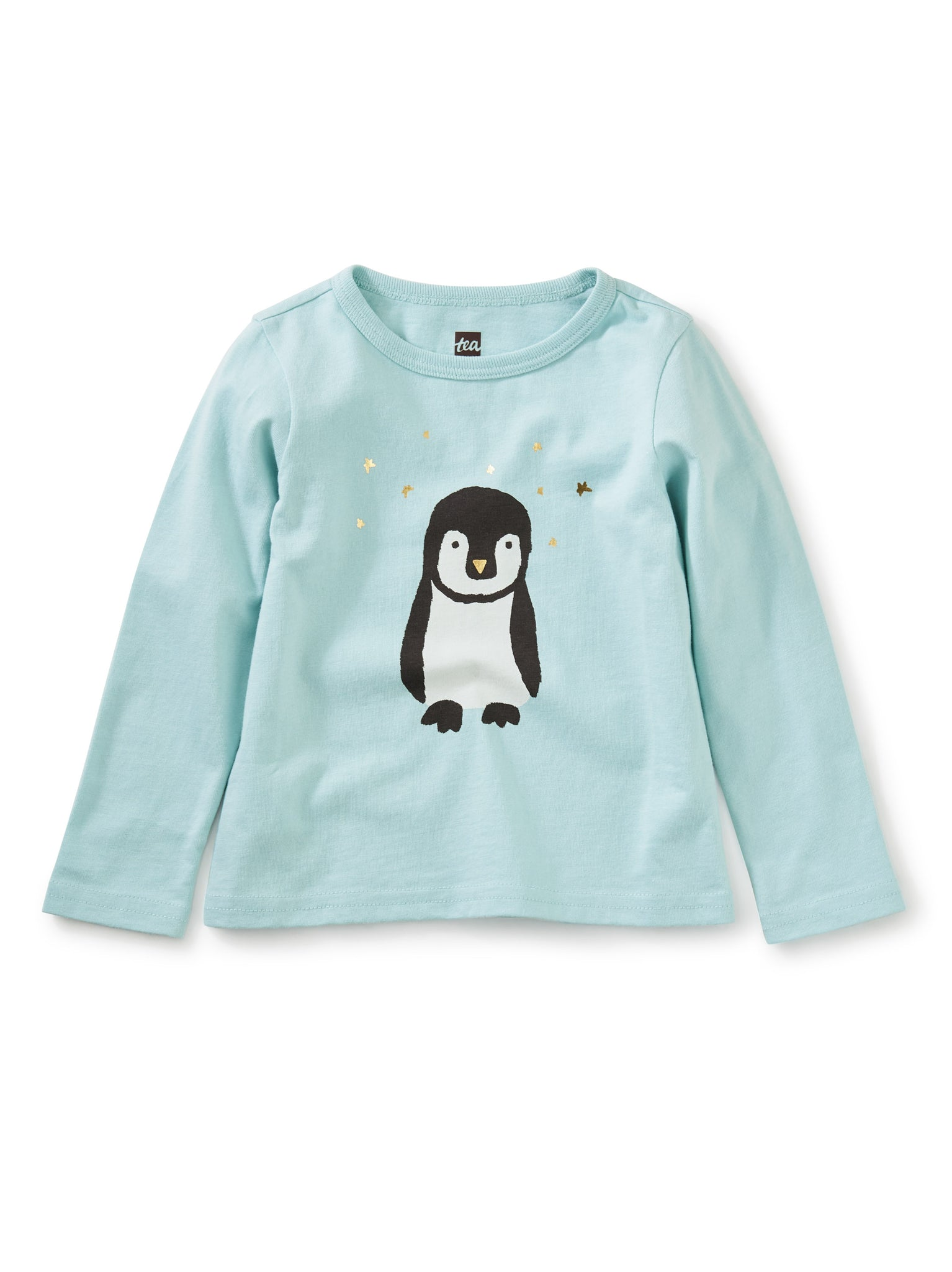 Penguin Metallic Graphic Tee - Canal Blue