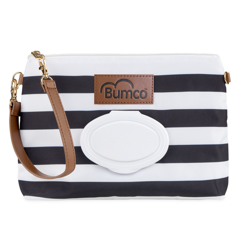 Diaper and Wipe Clutch - Black
