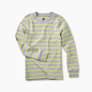 Striped Purity Tee - Storm Gray
