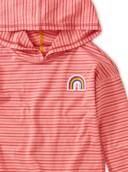 Rainbow High-Low Pullover Hoodie