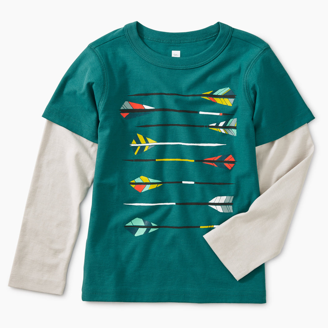 Archery Graphic Layered Tee
