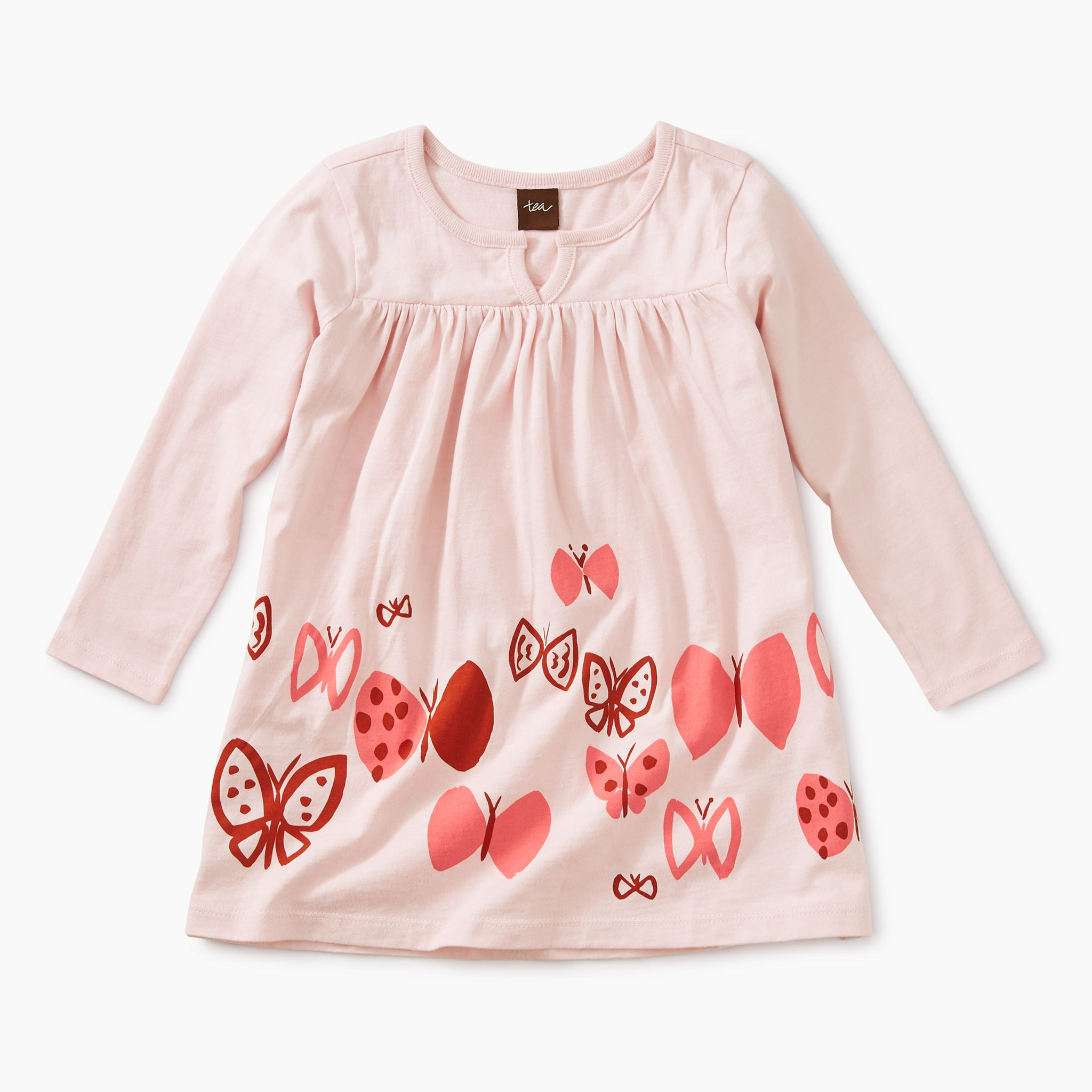 Butterflies Graphic Dress - Pink Cashmere