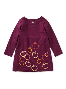 Graphic Baby Dress - Golden Apples