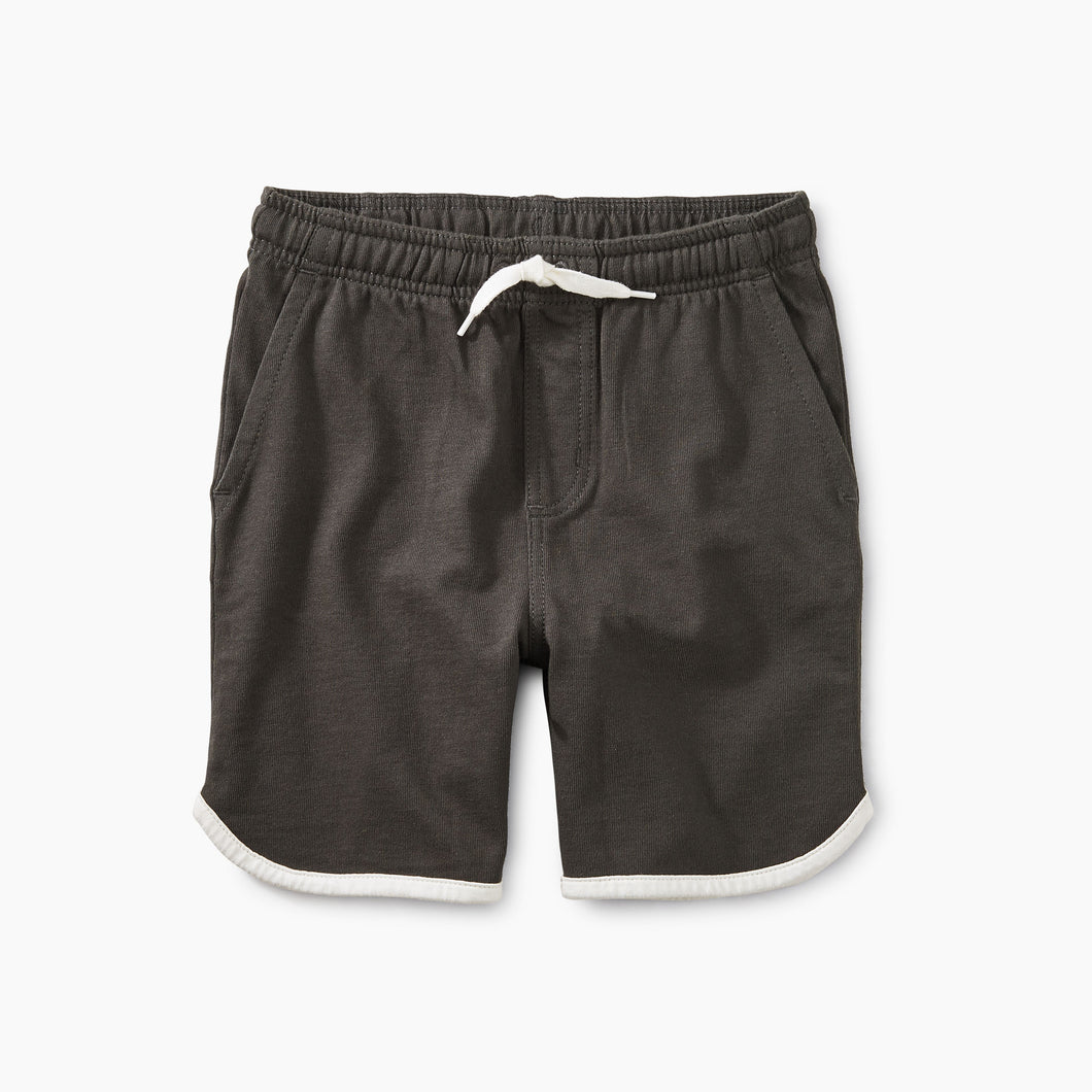 Piped Knit Shorts - Iron