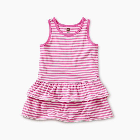 Baby Pom Pom Ruffle Tank Dress - Sweet Pea