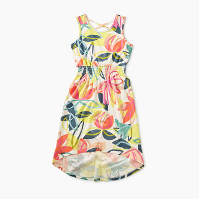 Printed High-Low Tank Dress - Tradewinds Floral