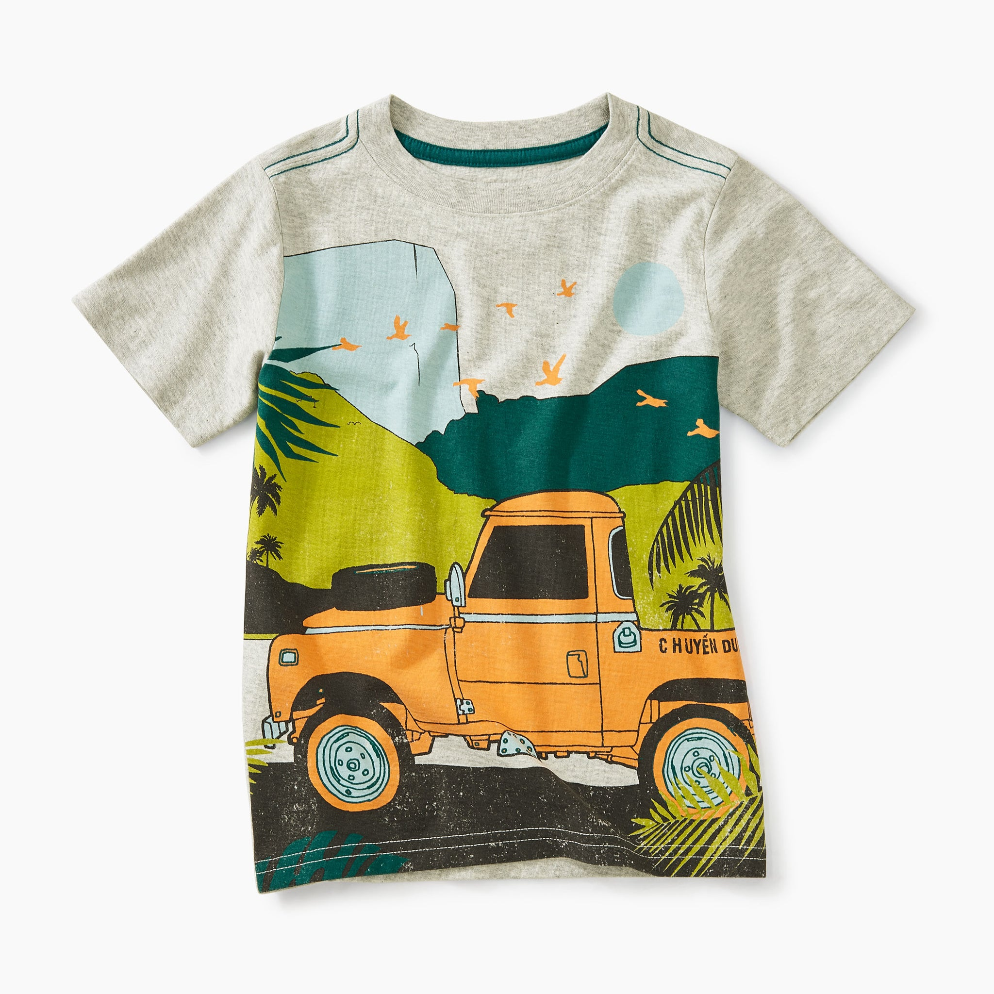 Trek Truck Graphic Tee - Light Gray Heather