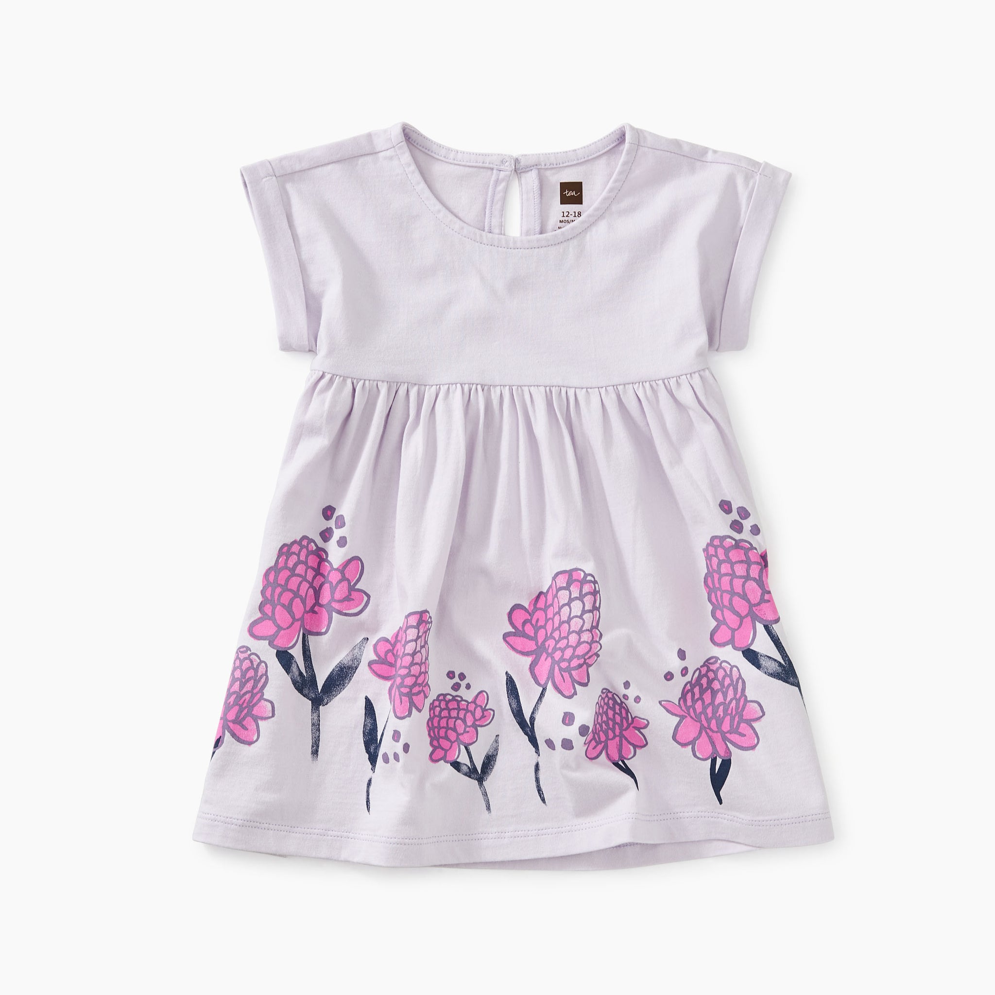Ginger Flower Empire Baby Dress - Verbena