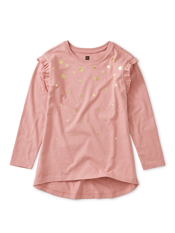 Metallic Star Tunic Top - Antique Rose
