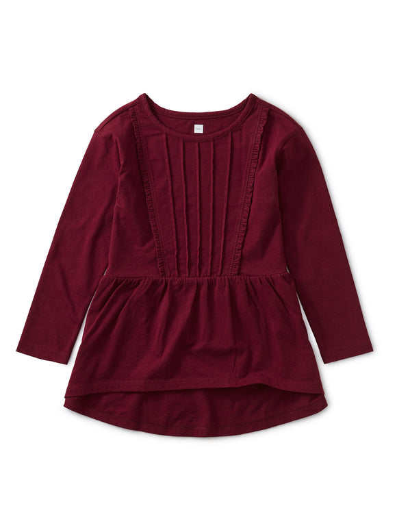 Pleated Pin Tuck Top - Boysenberry