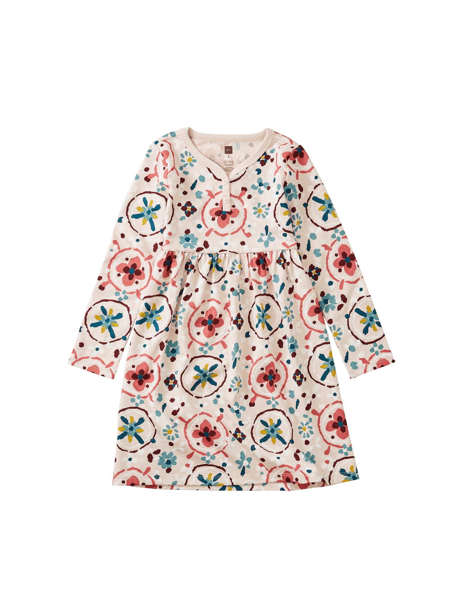 Henley Dress - Floral Tibetan Rugs