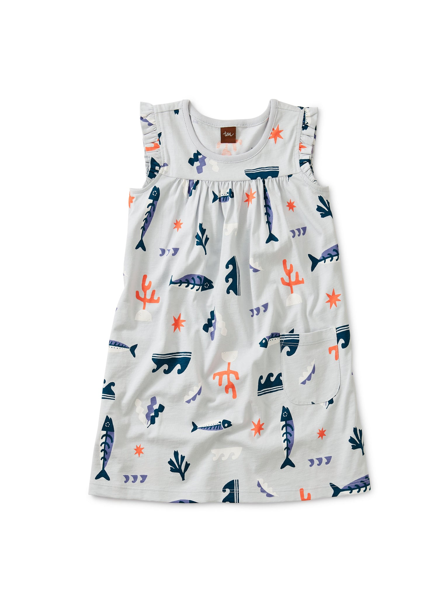 Printed Mighty Mini Dress - Aquatic Play