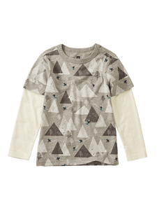 Printed Layered Sleeve Tee - Himalyan Ski