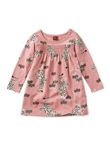 Printed Smocked Baby Dress - Leopard Kingdom