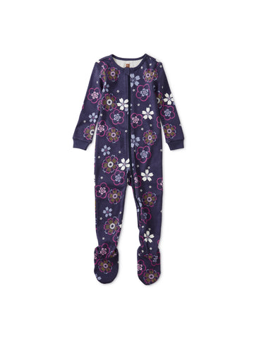 Long Sleeve Footed Pajama - Floral