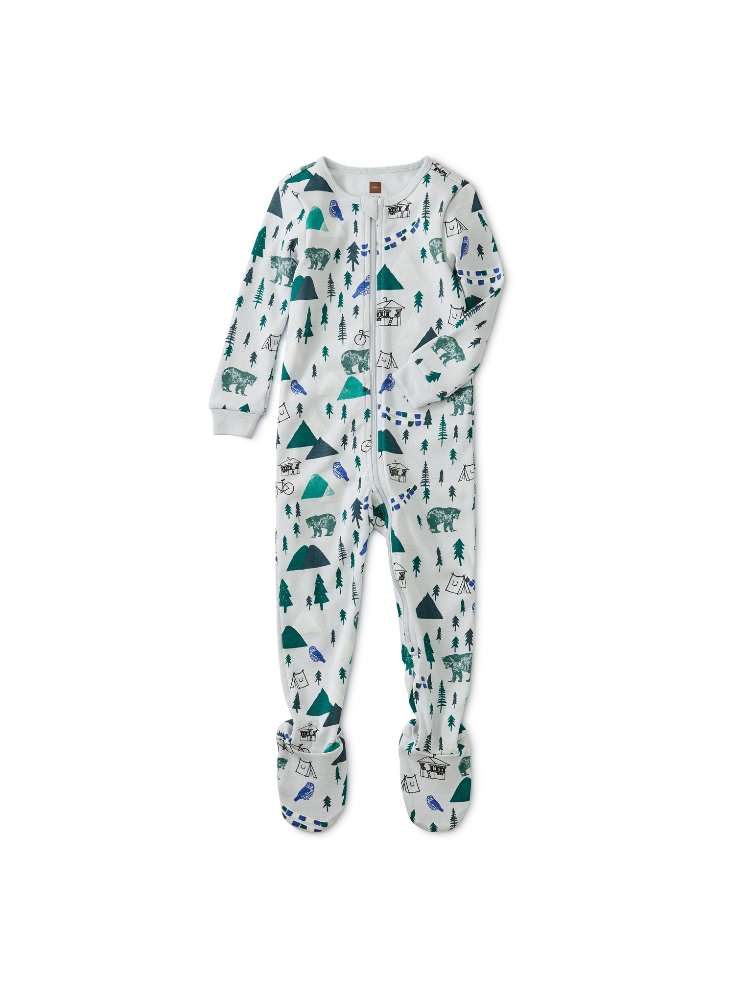 Long Sleeve Footed Pajama - Campground