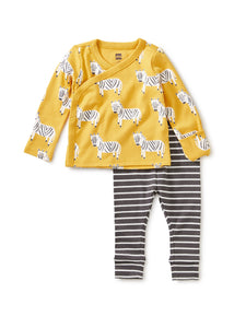 Wrap Top Baby Outfit - Sweet Zebra
