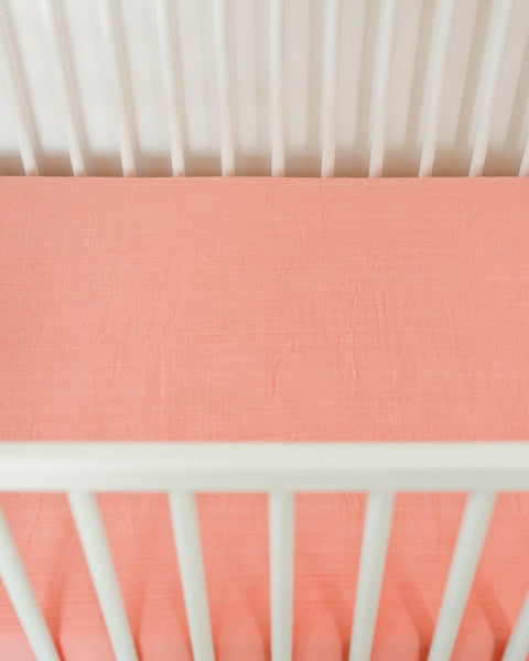 Cotton Muslin Crib Sheet