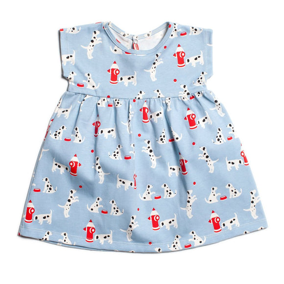 Merano Baby Dress - Dalmations Blue