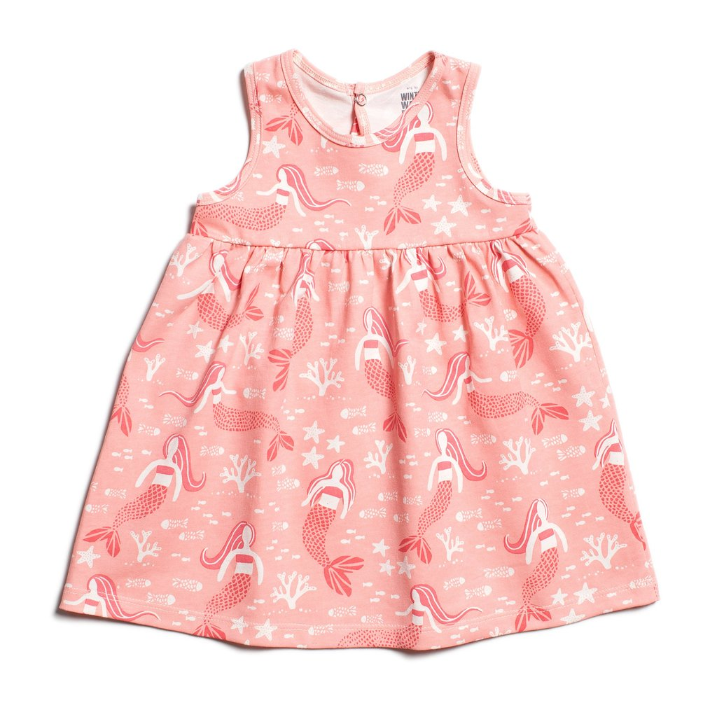 Oslo Baby Dress - Mermaids Pink