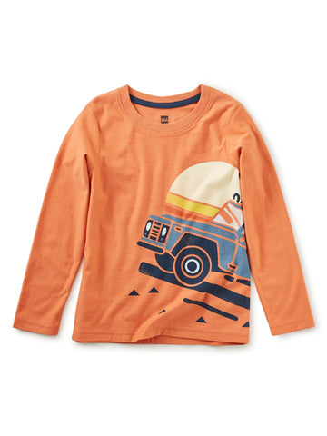 Road Trip Graphic Tee - Orange Spice