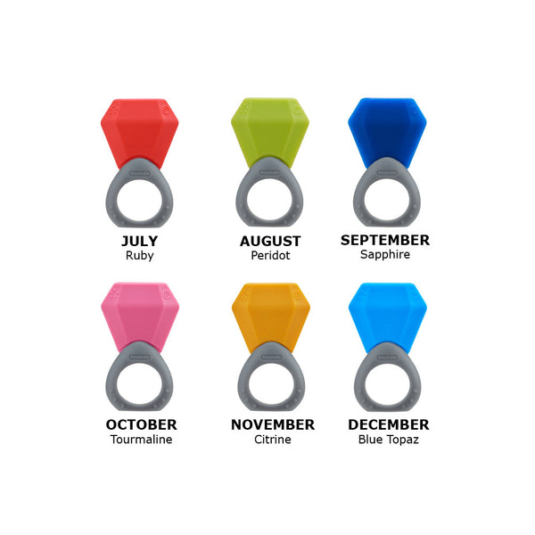 Birthstone Teething Ring (12 Colors)