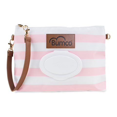 Diaper and Wipe Clutch - Pink